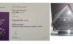 """Získali jsme ocenění Microsoft Awards 2018 / Finalist za projekt """"Digital Checklist: Kontrola kvality výroby jako služba v Cloudu"""""""